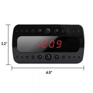SpygearGadgets 1080P HD Mini Clock Hidden Spy Cam