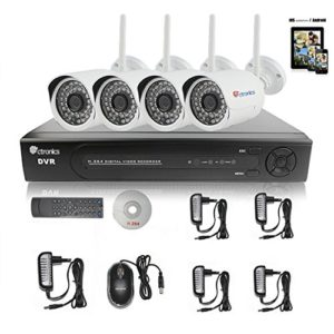 Ctronics 8CH 1080P WIFI NVR System Home Surveilliance Security System